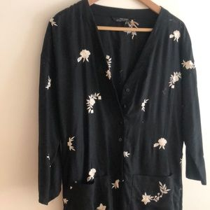 Embroidered flower jumpsuit Zara (small)